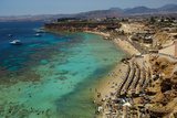 Swimmers  Snorkelers and Sunbathers Enjoy the Water in Sharm El Sheikh