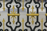 Wrought Iron Fence with Gilded Decoration At the Royal Palace