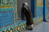 A Man Praying At the Shrine of Hazrat Ali  Or Blue Mosque