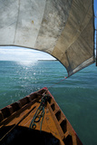 View From a Fishing Dhow Off the Coast of Matemo Island  Mozambique