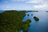 Limestone Island Formations Shaped By Wind and Water