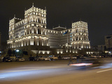 Baku's House of Government  Lit Up At Night