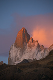 Cerro Fitz Roy Glows Pink At Dawn As Seen From the Rio Blanco Valley