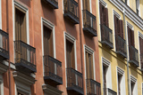Windows with Balconies in Downtown Madrid