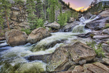 High Water On the Roaring Fork River During Spring Runoff At Sunrise