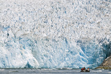 Ecotourists in a Zodiac in Front of Dawes Glacier