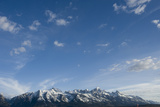 Snow Capped Mountains in Jackson Hole  Wyoming