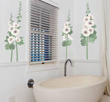 Hollyhocks Wall Decal Sticker