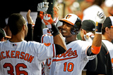 Baltimore  MD - June 10: Adam Jones and Chris Dickerson