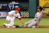 Philadelphia  PA - July 8: Chase Utley and Bryce Harper