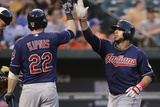 Baltimore  MD - June 27: Mike Aviles and Jason Kipnis