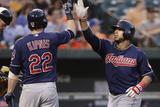Baltimore  MD - June 27: Mike Aviles and Jason Kipnis