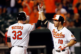 Baltimore  MD - June 25: Chris Davis and Matt Wieters