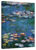Water Lilies Wrapped Canvas Art