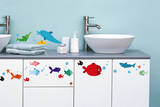 Fish Decorative Water Resistant Wall Sticker Decal