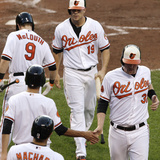 Baltimore  MD - June 27: Matt Wieters  Chris Davis and Ryan Flaherty