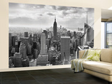 Manhattan New York Skyline Black and White