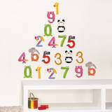 Color Numbers Wall Decals