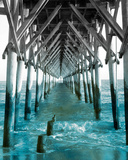 Teal Dock I Reproduction d'art par Jairo Rodriguez