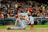 Washington  DC - April 22: Matt Holliday and Yadier Molina