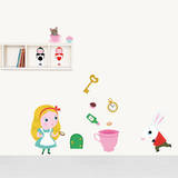 Alice in Wonderland Decorative Wall Stickers