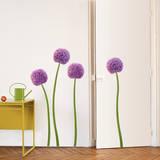 Purple Allium Flower Wall Decals