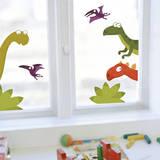 Dino's Family Window Decal Stickers