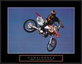 Confidence Motorbiker in Air Motivational