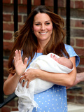 Catherine  Duchess of Cambridge  and Newborn Son at St Mary's Hospital  July 23  London  England