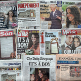 Front Page Headlines - July 23 in Bristol  England: Newborn Son of Catherine and Prince William
