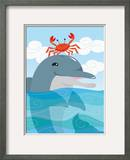 Crab Dancing on Dolphin'S Head