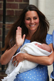 Catherine  Duchess of Cambridge  Holding Her Newborn in London  England  July 23