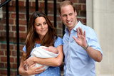 Prince William and Duchess Catherine with their Newborn Son at St Mary's Hospital  London  July 23