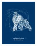 WWF Mountain Gorilla - Animal Tails Reproduction d'art par Annette D'Oyly