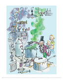 Charlie and the Chocolate Factory - Willy Wonka Reproduction d'art par Quentin Blake