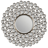 Satin Nickel Round Mirror