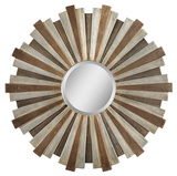 Perth Bronze and Copper Circular Mirror