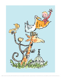 The Giraffe and the Pelly and Me Reproduction d'art par Quentin Blake