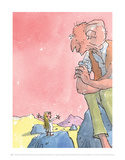 The BFG and Sophie Reproduction d'art par Quentin Blake