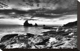 Black and White Rocky Coast
