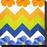 Chevron Pattern with Flowers