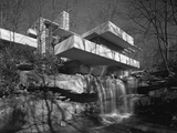 Exterior of Fallingwater Designed by Frank Lloyd Wright 1937 Created by Hedrich-Blessing