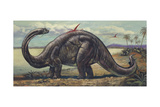 Apatosaurus in Natural Environment  Illustration