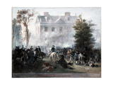 Battle of Germantown  Attack on Judge Chew's House  1860 by Chappel  Alonzo  1828-1887