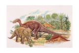 Palaeozoology  Cretaceous Period  Dinosaurs  Illustration by Brin Edwards