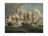 The Chesapeake and Shannon Off Boston  1813 by Dodd  Robert