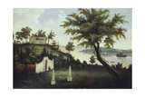 Mount Vernon  Home of George Washington on the Potomac River  1860 Artist Unidentified