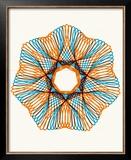 Orange and Blue Line Design