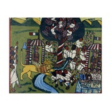 Battle Scene  by Abyssinian Artist  1937