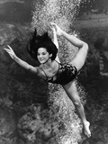 January 1970:  Underwater Ballet Routine at a Theatre at Weeki Wachee Spring  Florida